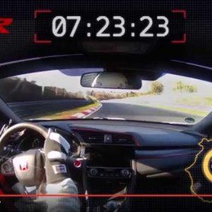 新型シビックタイプRがニュルブルクリンクでFF最速タイムのオンボード映像を公開