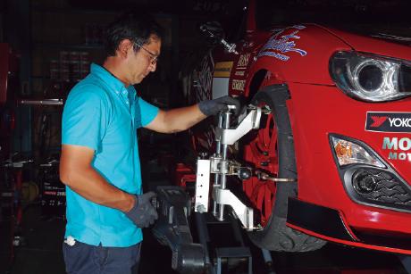 MOSTAIN MOTOR BAR:アーム特性を徹底研究して開発したオリジナル車高調