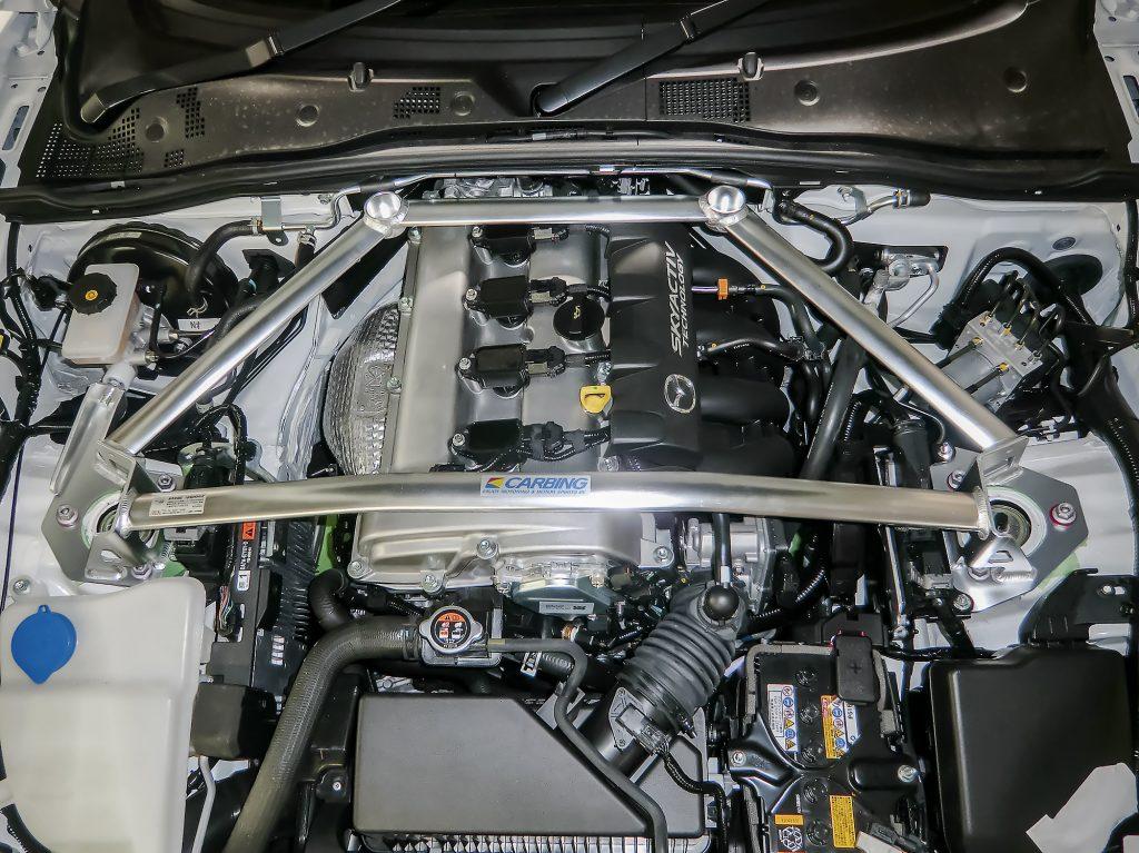 【OKUYAMA】ブレーキ効率とペダルタッチのフィーリングが向上【ストラットタワーバー フロント タイプⅡ MCS】
