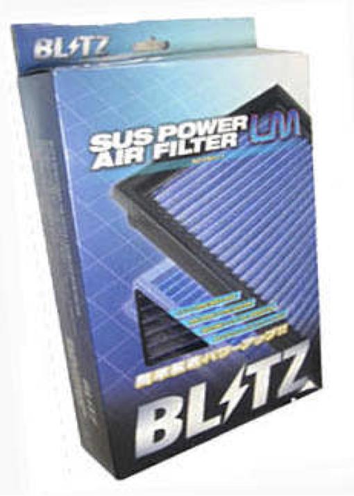 【BLITZ】高い集塵性と吸入抵抗低減を実現し、鋭いアクセルレスポンスを可能に【SUS POWER AIR FILTER LM(E12改)】