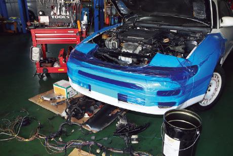 エンジン換装の重作業