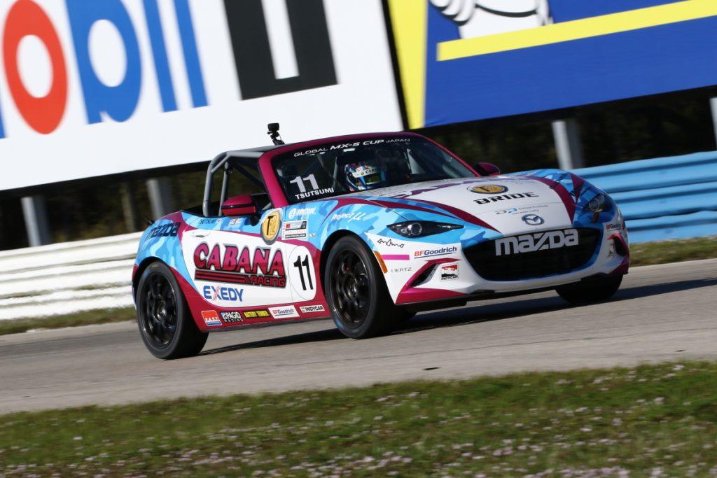 堤優威選手によるMX-5グローバルカップチャンピオンカーに同乗走行してみない「11/27 T by Two CABANA Racing ドライビングレッスン2018」