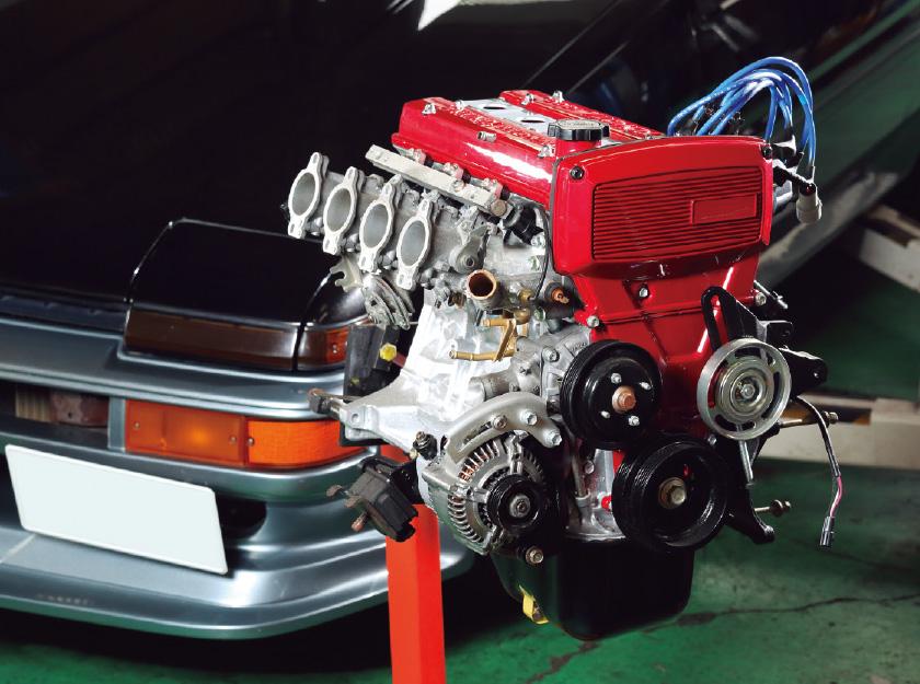 ミドルチューン4A-Gのエンジン製作依頼も多い
