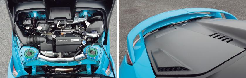 GT100Rタービンを装着ビジュアルにもこだわる