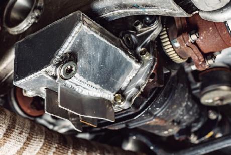 デフの手軽なブロー対策 大容量のデフカバーを開発