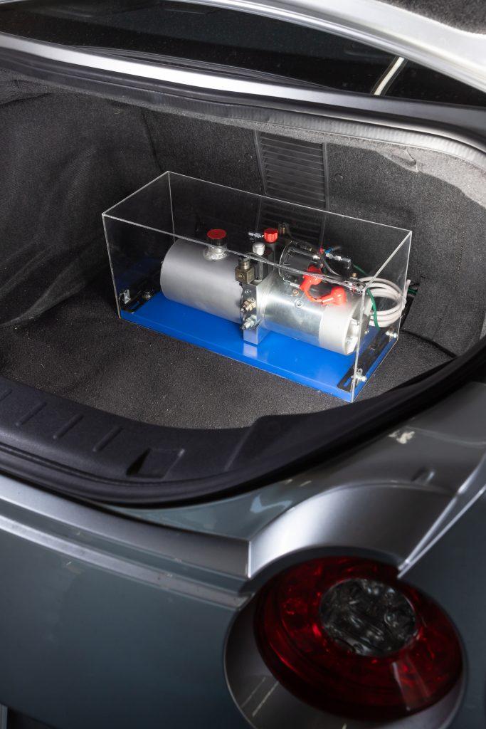 サーキット対応のR35用の油圧車高コントロール! Jura Tec  パワーシリンダーシステム/R35ブリスターフェンダー - _MG_2386
