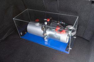 サーキット対応のR35用の油圧車高コントロール! Jura Tec  パワーシリンダーシステム/R35ブリスターフェンダー - _MG_2389